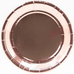 Тарелки (7''/18 см) Розовое Золото, 6 шт.