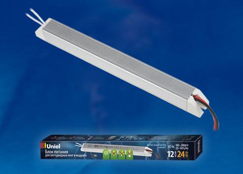 UET-VAT-024A20 12V IP20 Блок питания ультратонкий, 24Вт.  Металлический корпус. TM Uniel