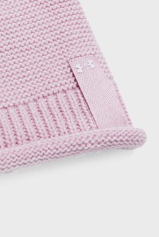 Женская розовая шапка Essentials Pom Beanie Under Armour