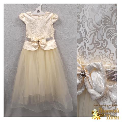 Платье нарядное девочке (7-8) 201204-ТР7752