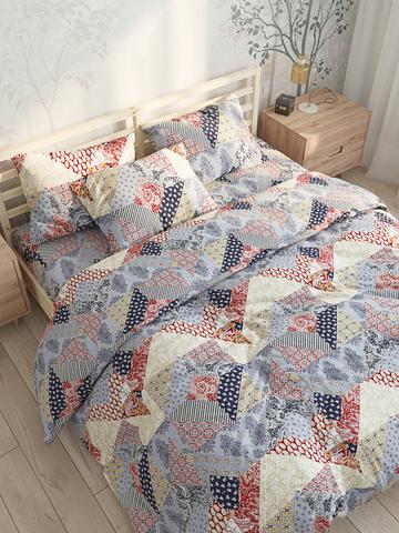 Пододеяльник  -Пэчворк- 2-спальный на молнии 175х215 см
