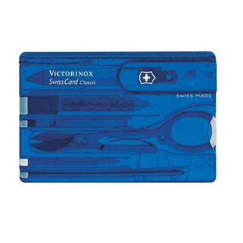 Швейцарская карточка Victorinox SwissCard, синяя