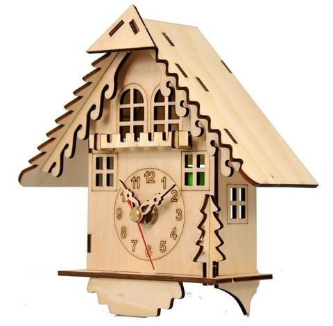 Часы конструктор из дерева