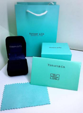 77740- Комплект подарочной упаковки под кольцо/пусеты TIFFANY
