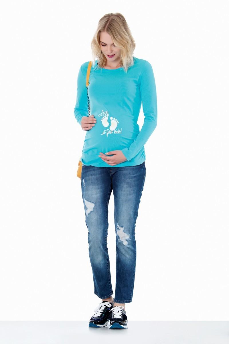 Лонгслив для беременных 06936 бирюзовый