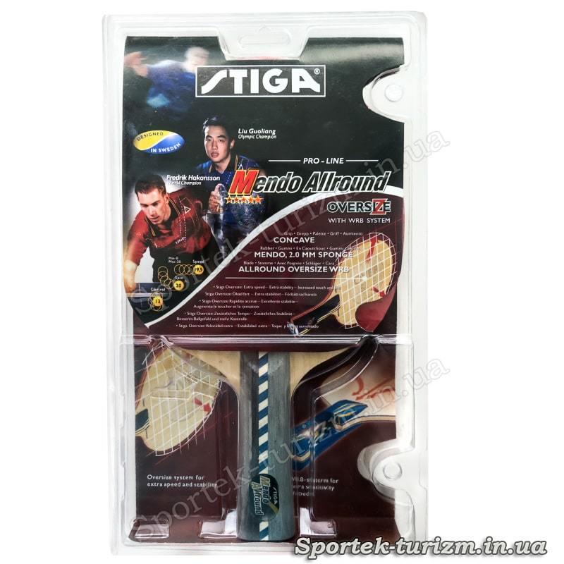 Упаковка ракетки для настільного тенісу Stiga Mendo Allround 5 *