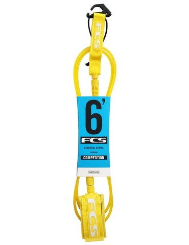 FCS 6' Comp Leash 5.5mm Taxi Cab Yellow