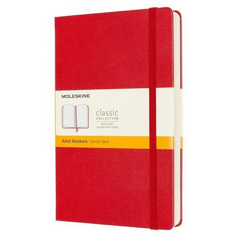 Блокнот Moleskine Classic Expended QP060EXPF2 Large 130х210мм 400стр. линейка твердая обложка красный