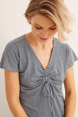 Нічна сорочка міді в смужку