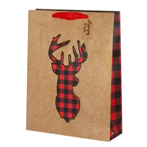 Пакет подарочный Крафт Deer 32*42*11.5 2