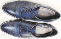 Строгие мужские туфли из натуральной кожи Ikoc 3805-4 Ash Blue Leather.