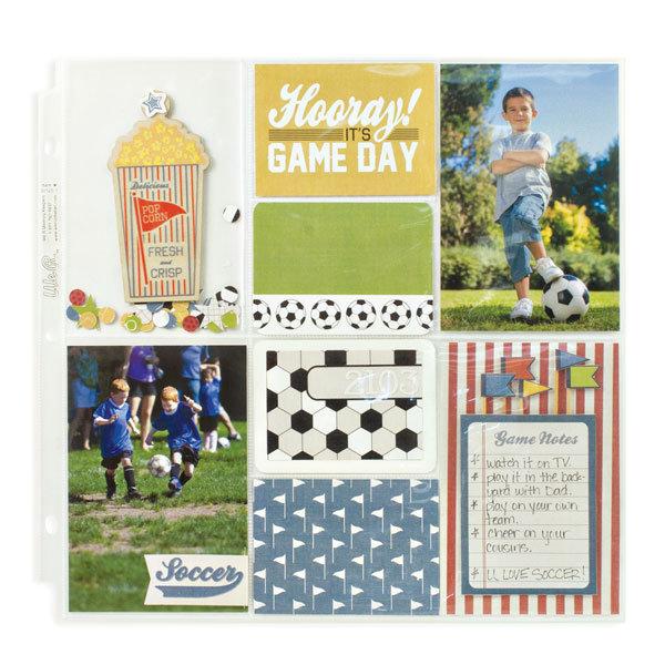 Набор карточек GAME DAY для  Project Life от WeRmk 100 шт