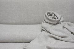 Лён смягченный, креп, цвет - натуральный меланж