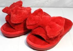 Мягкие тапочки для дома красные женские Yes Mile A-08 Red Bow.