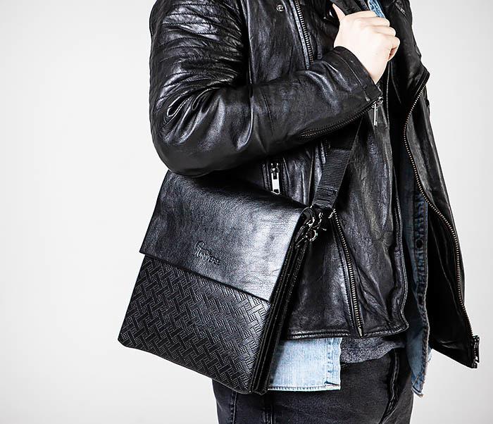 BAG559-1-4 Тонкая мужская сумка из искусственной кожи фото 02