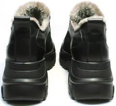 Ugly shoes кроссовки на объемной подошве женские зимние Studio27 547c All Black.