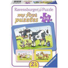 Puzzle Good Animal Friends 3x6 pcs