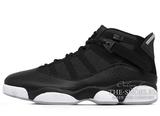 Кроссовки Мужские Nike Air Jordan 6 Rings Mid Basketball Shoe Black/White 322992-021