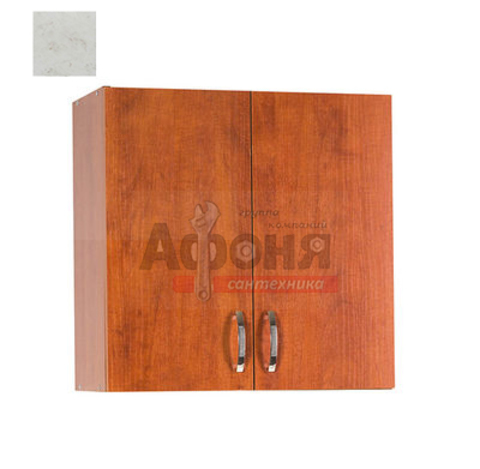 Шкаф для посуды 80 цвет карара (с сушкой) (ЛДСП)
