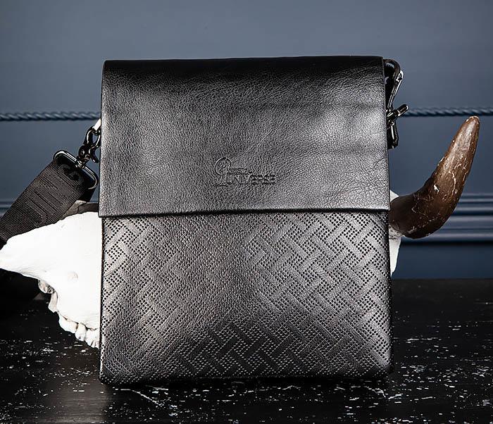 BAG559-1-4 Тонкая мужская сумка из искусственной кожи фото 03