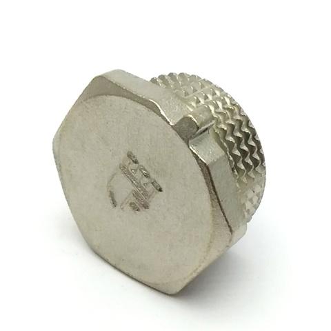 Заглушка латунная никелированная SD Forte 1/2 с наружной резьбой