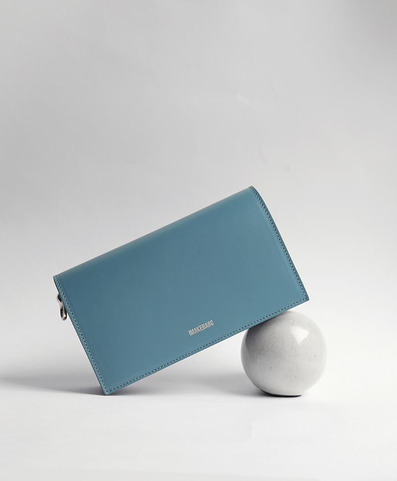 Сумка-книжка голубая