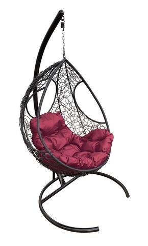 Кресло подвесное Ferrol black/burgundy