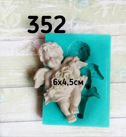 Молд Ангел с розами,4.5х6см, Арт.PO-0352, силикон