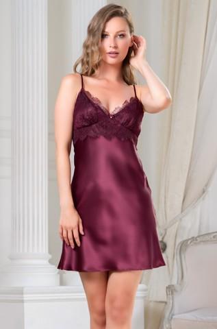 Короткая шелковая ночная сорочка Mia Amore Sharon (70% нат.шелк)