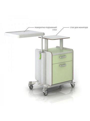 СН300-04 Тумбочка медицинская с поворотной столешницей - фото