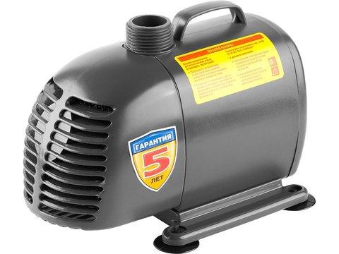 Насос фонтанный, ЗУБР ЗНФЧ-50-3.4, для чистой воды, напор 3,4 м, насадки: колокольчик, гейзер, каскад, 85 Вт, 50 л/мин