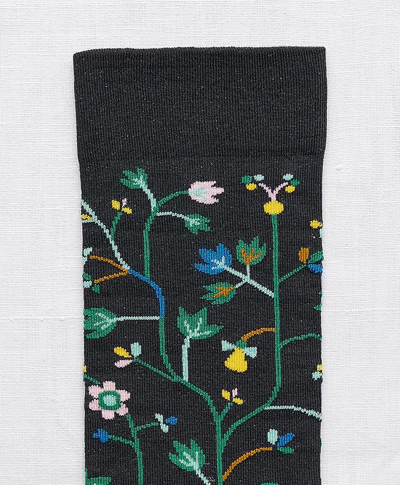 Носки Fleurs Faux Noir