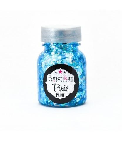 Гель блестки Pixie голубые Blue monday 30 мл
