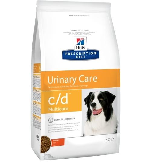Сухой корм Ветеринарный корм для собак, Hill`s Prescription Diet c/d Multicare, против струвитов, с курицей hill-s-prescription-urinary-canine-chicken-2-kg.jpg