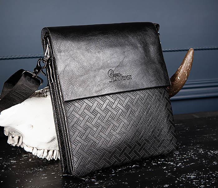 BAG559-1-4 Тонкая мужская сумка из искусственной кожи фото 04