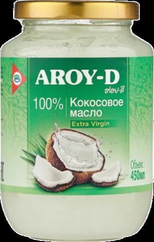 Aroy-D Масло 100% кокосовое (extra virgin), 450 мл