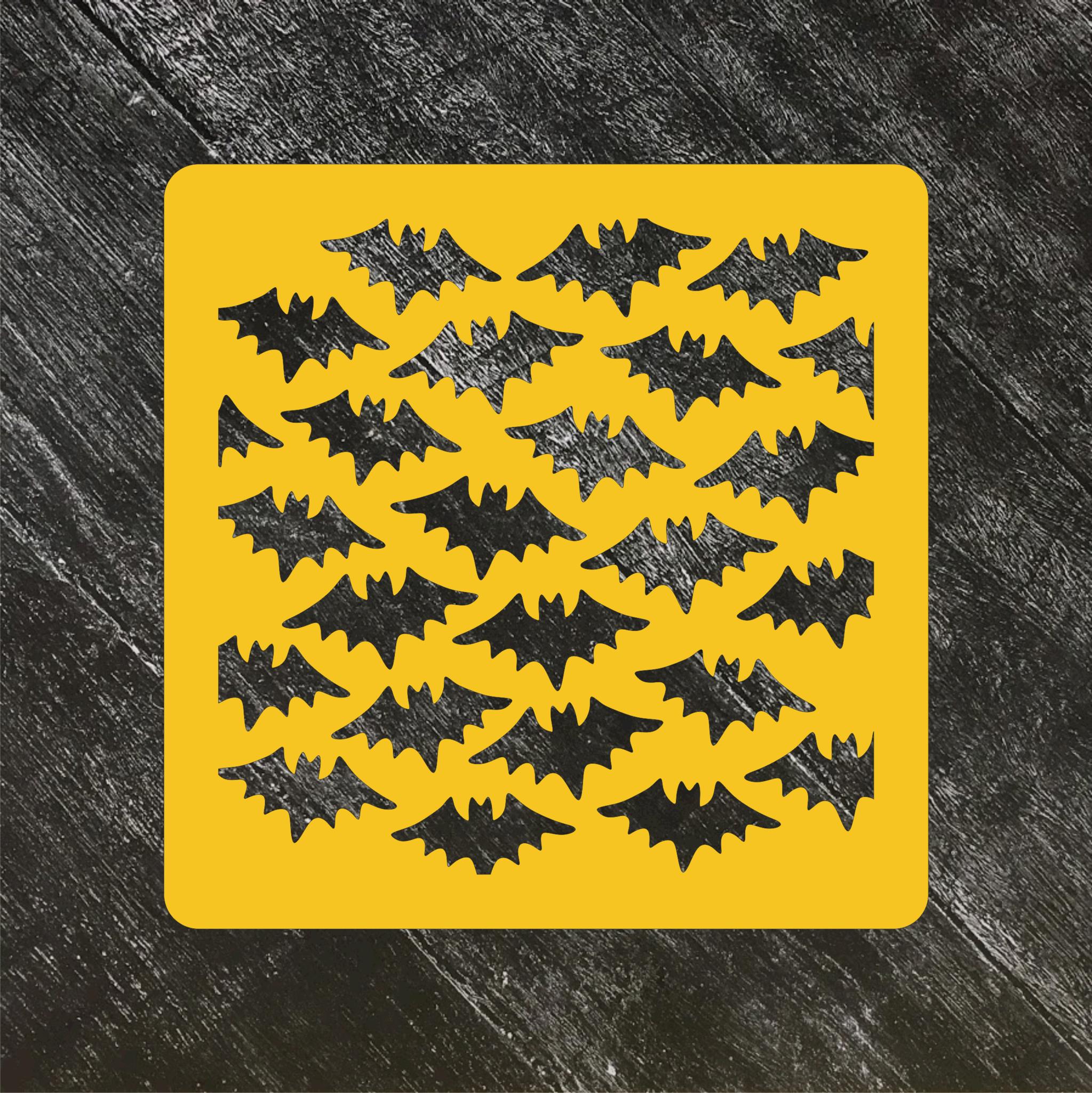 Трафарет Хэллоуин №3 Летучие мыши / Бетмен