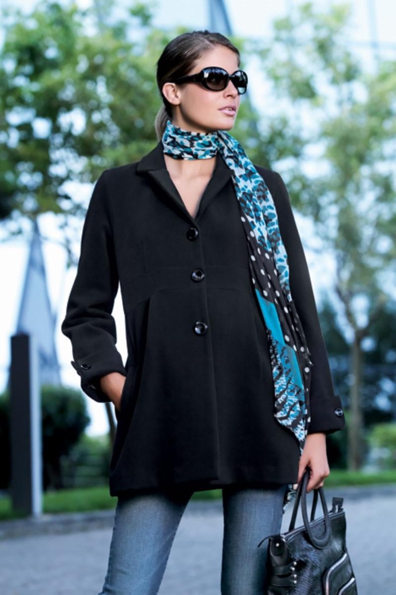 Пальто для беременных 05094 черный