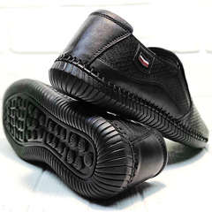 Черные туфли мокасины мужские лето smart casual Ridge Z-291-80 All Black.