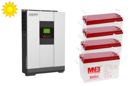 Комплект ИБП HS20-4048P-АКБ MM100 (48в, 4000Вт)
