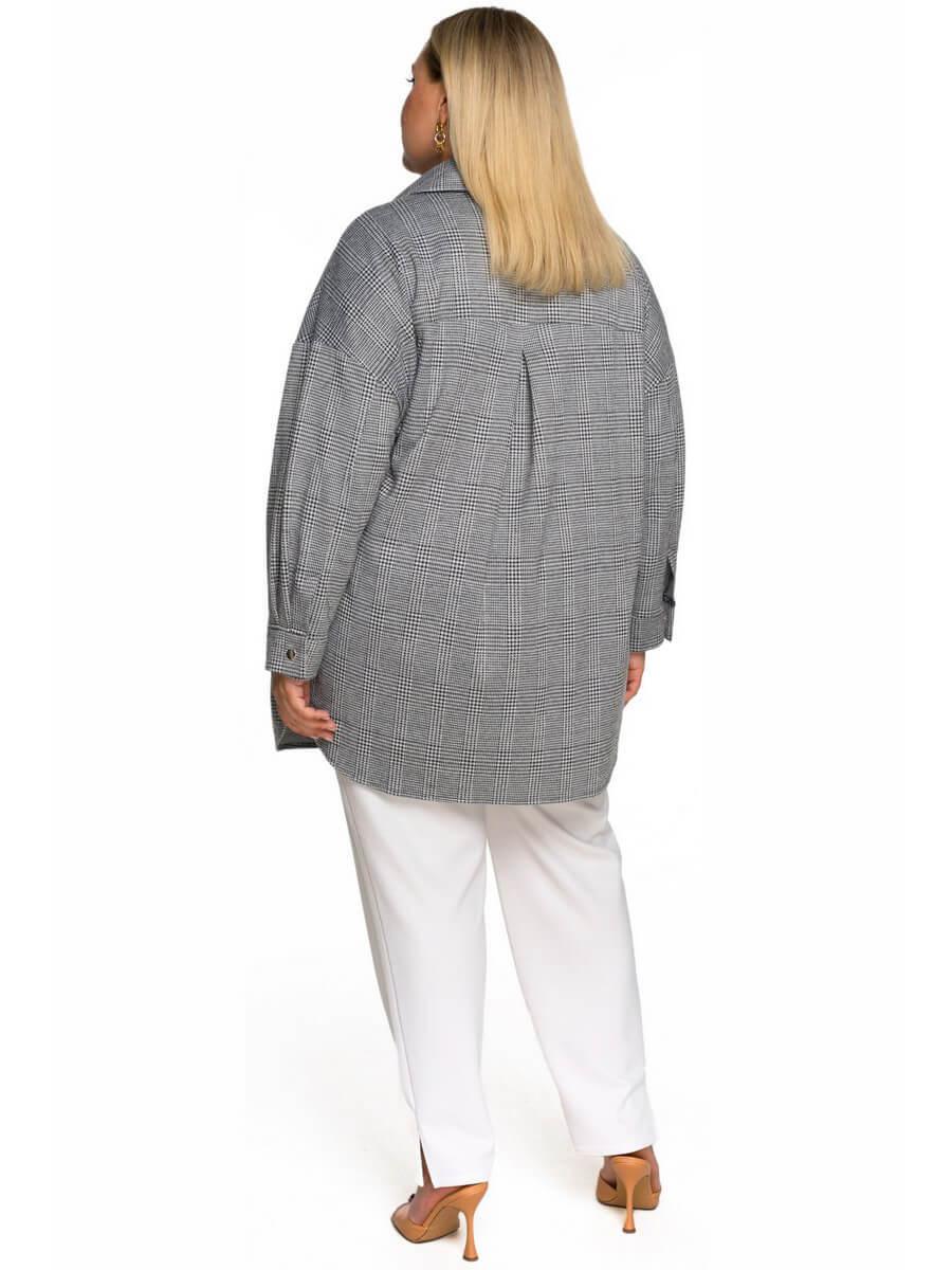 Рубашка из джерси Серая клетка