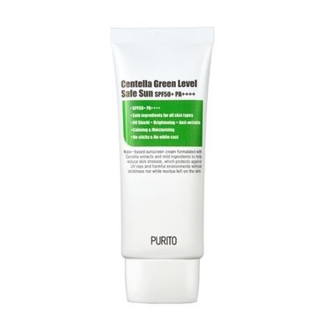 Купить PURITO Centella Green Level Safe Sun SPF+50 PA ++++- Солнцезащитный крем с центеллой азиатской