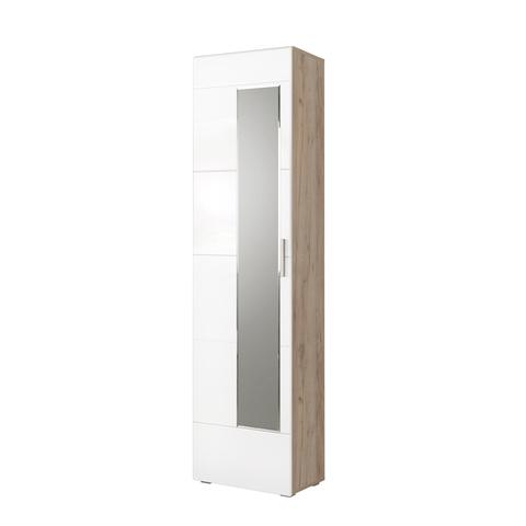 Шкаф для одежды Лайн 08.122 Моби дуб серый, белый глянец