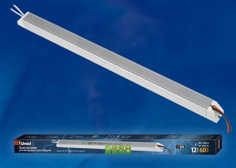 UET-VAT-060A20 12V IP20 Блок питания ультратонкий, 60Вт. Металлический корпус. TM Uniel