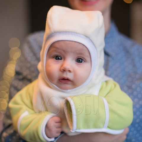 Шлем флисовый Экрю