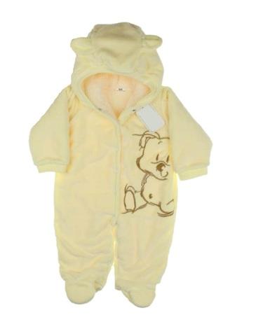 Комбинезон для новорождённого Мишка 68 лимонный
