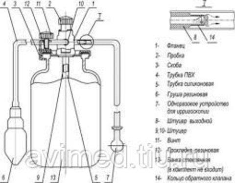 Аппарат для ирригоскопии (аппарат Боброва) (1 литр)
