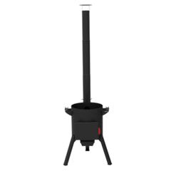Печь с дымоходом для казана Берель 400К на 12-16л
