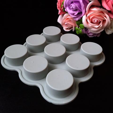 Силиконовая форма для выпечки ТАБЛЕТКА (цилиндр, стаканчик) 9в1(диаметр 38мм, глубина 20мм)