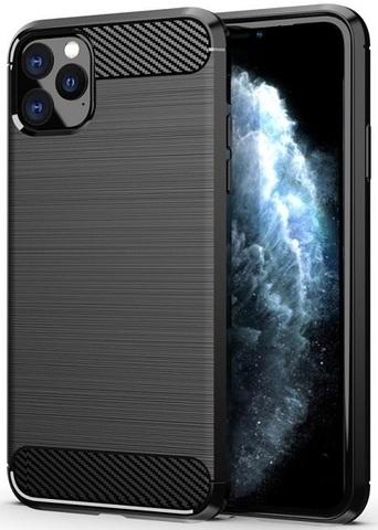 Чехол для iPhone 11 Pro Max цвет Black (черный), серия Carbon от Caseport